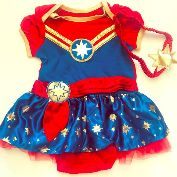 Marvel Dresses Captain Marvel Comics Baby Toddler Costume Dress Poshmark Marvel marvel captain america classic ($25) ❤ liked on polyvore featuring costumes, marvel halloween costumes, marvel costumes, blue halloween costume, civil war costumes and captain america costume. captain marvel comics baby toddler costume dress